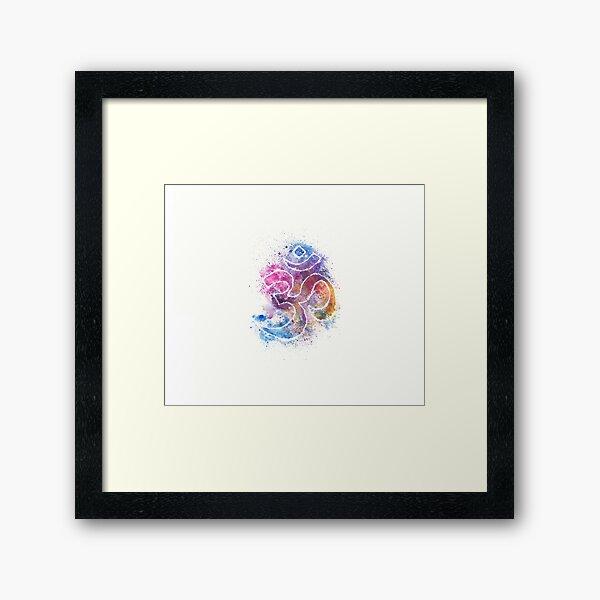 OM Symbol Watercolor Art Framed Art Print