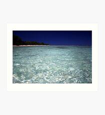 Idyllic lagoon - Rarotonga, Cook Isands Art Print