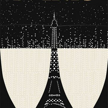 Paris Eiffel Champagne Vintage Vogue Gold by GarciaPayan
