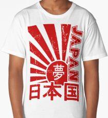 Vintage Japan Rising Sun Kanji T-Shirt Long T-Shirt