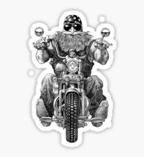 A Man With Harley Davidson Sticker