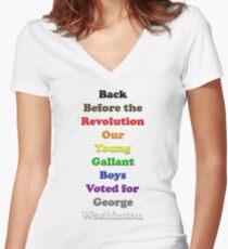 Resistor Code 20 - Back Before... Women's Fitted V-Neck T-Shirt