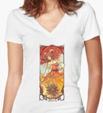 Sun Tarot - Youtube artists Collective Women's Fitted V-Neck T-Shirt