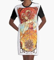 Sun Tarot - Youtube artists Collective Graphic T-Shirt Dress