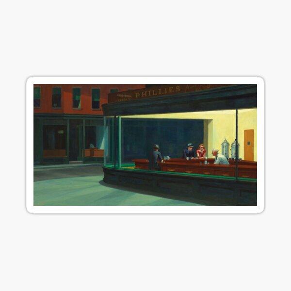 AMERICAN ARTIST. Edward Hopper, Nighthawks, 1942. Sticker