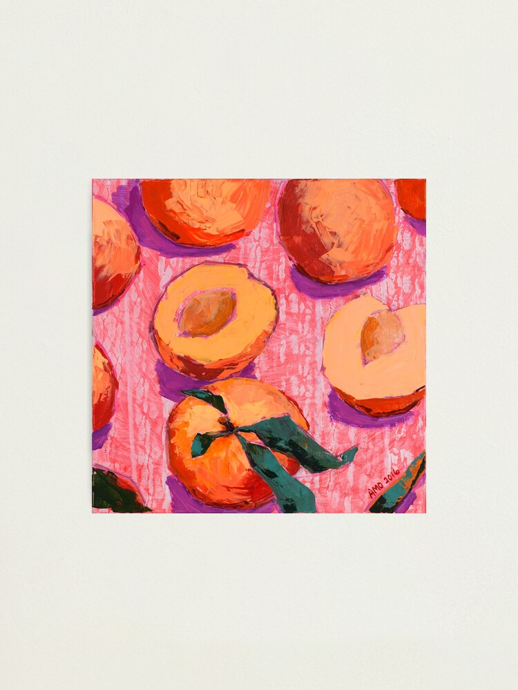 Alternate view of Peaches on Pink Background Photographic Print