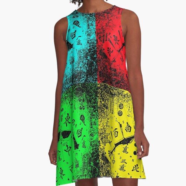 """Mah Jongg """"NEWS"""" Pop Art A-Line Dress"""