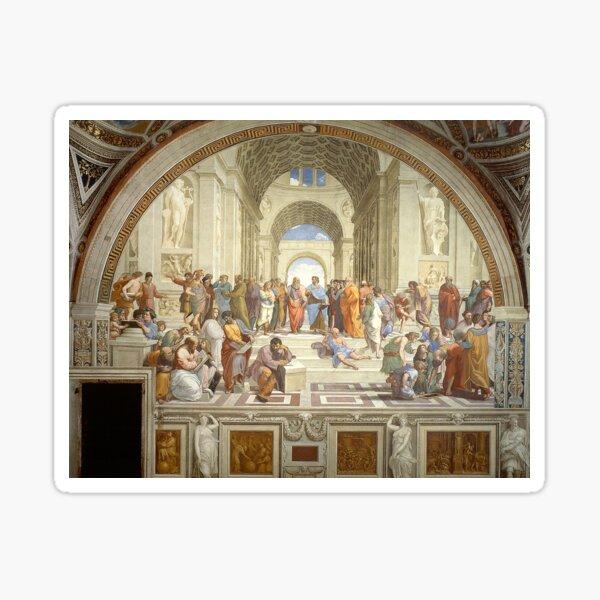 The School of Athens, Italian Renaissance, artist, Raphael. Sticker