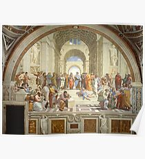 Die Schule von Athen, italienische Renaissance, Künstler, Raphael Poster