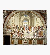 The School of Athens, Italian Renaissance, artist, Raphael Photographic Print