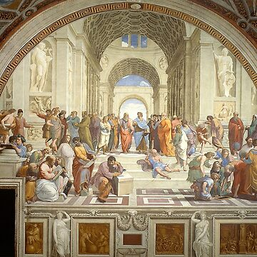 The School of Athens, Italian Renaissance, artist, Raphael by TOMSREDBUBBLE