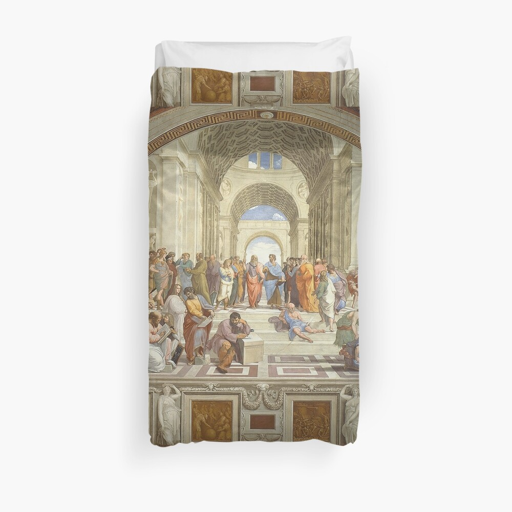The School of Athens, Italian Renaissance, artist, Raphael Duvet Cover