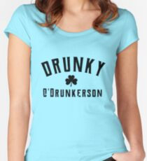 Drunky O'Drunkerson st patrick's day  t shirt Women's Fitted Scoop T-Shirt