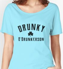 Drunky O'Drunkerson st patrick's day  t shirt Women's Relaxed Fit T-Shirt
