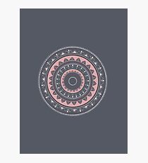 Pink mandala for self care Photographic Print