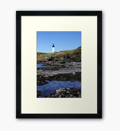 Tide Pools and Lighthouse Framed Print