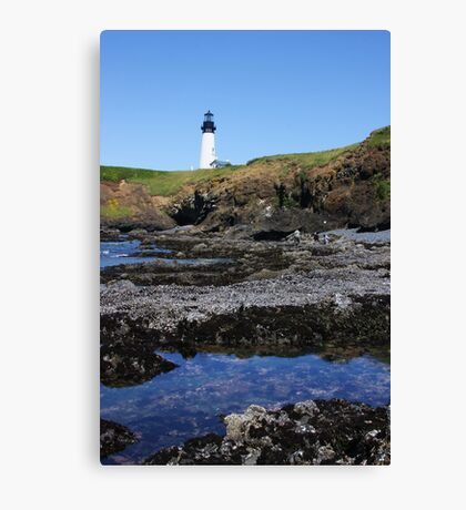 Tide Pools and Lighthouse Canvas Print