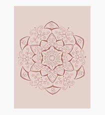 Jin Pink Mandala Photographic Print