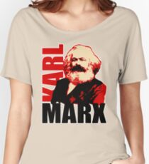Communist Karl Marx Portrait Women's Relaxed Fit T-Shirt