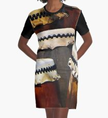 Japanese Drums Graphic T-Shirt Dress