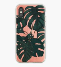 Vinilo o funda para iPhone Sunset Monstera