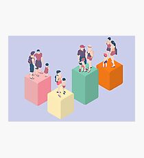 Isometric Infographic Family Types - LGBT included Photographic Print