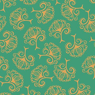 Boho Emerald Floral by gwendegroff