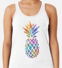 Camiseta con espalda nadadora Plumas de colores piña