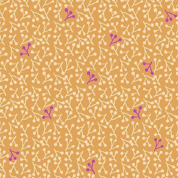 Boho Mustard Sprigs by gwendegroff
