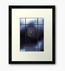 Midnight Blue Spider Web Framed Print