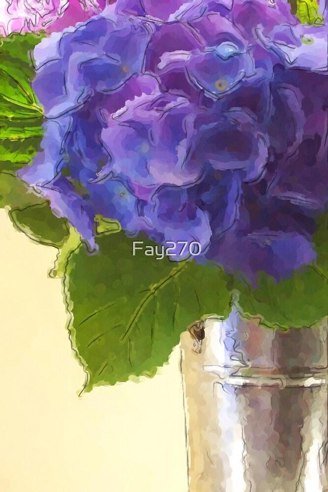 Hydrangeas in Tin Bucket - 1756 views as of 2/2/18 by Fay270
