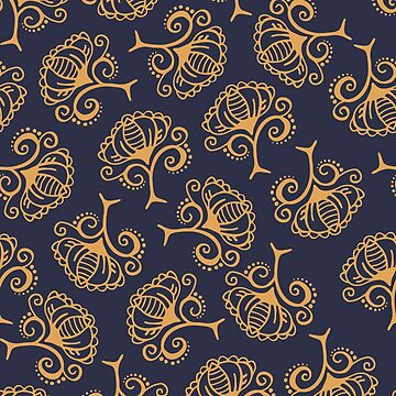 Navy Boho Floral by gwendegroff