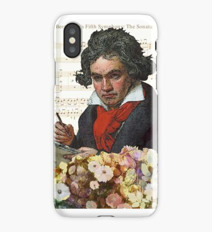 Ludwig von Beethoven Grunged III iPhone Case