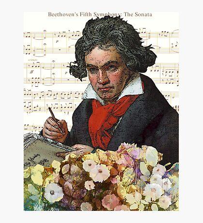 Ludwig von Beethoven Grunged III Photographic Print
