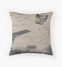 Fighter Flight Throw Pillow