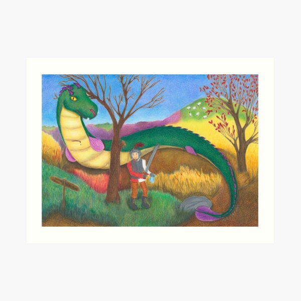 The Lambton Worm Art Print