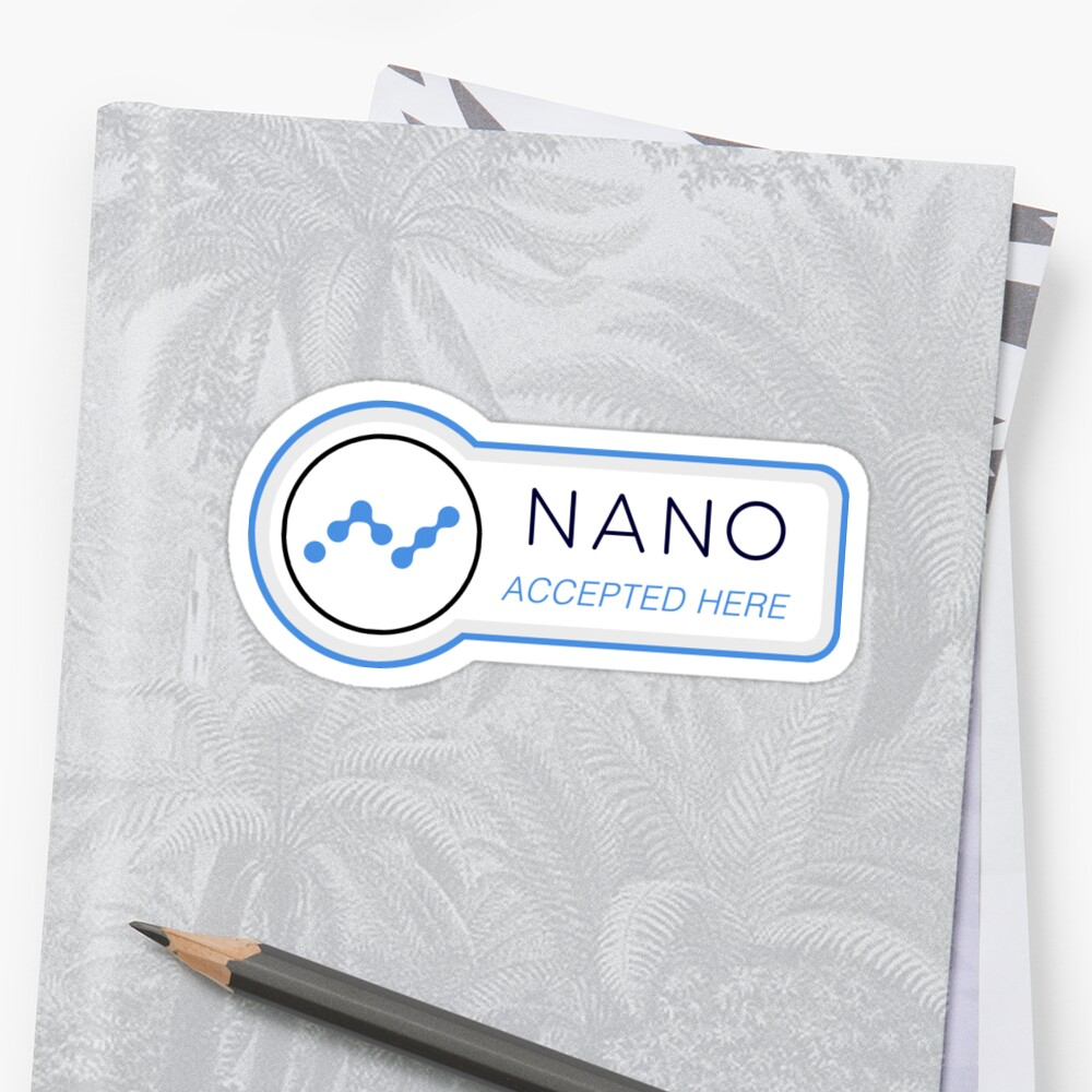 Nano XRB Raiblocks Stickers