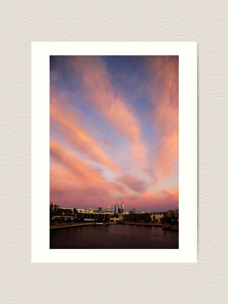 Alternate view of Perth City Skyscape Art Print