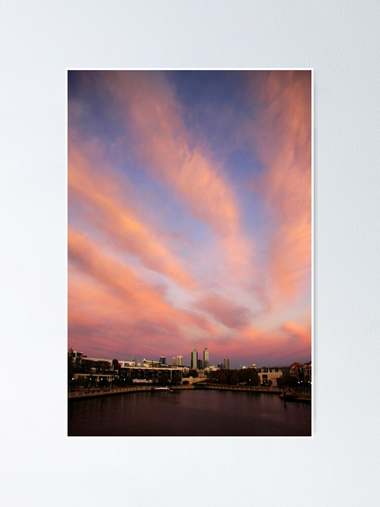 Alternate view of Perth City Skyscape Poster