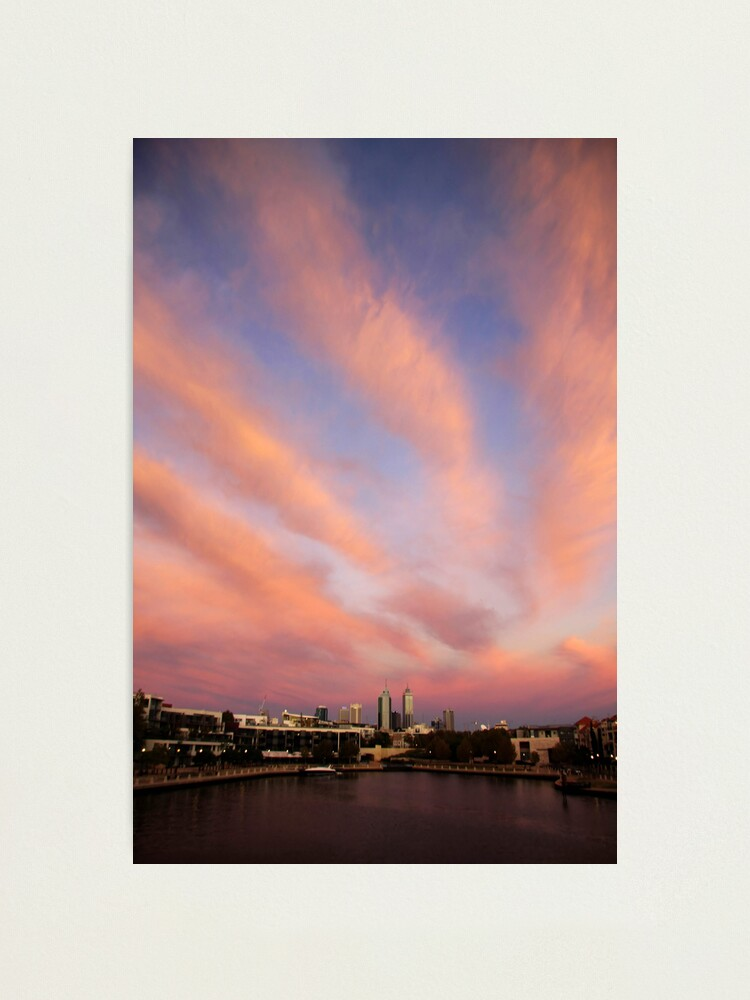 Alternate view of Perth City Skyscape Photographic Print