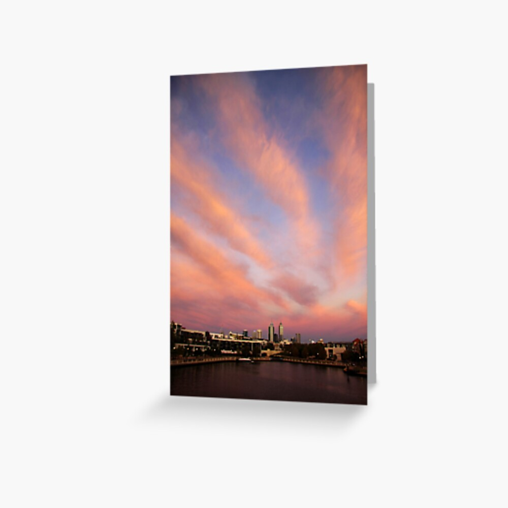 Perth City Skyscape Greeting Card