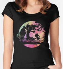walking on the trees Women's Fitted Scoop T-Shirt