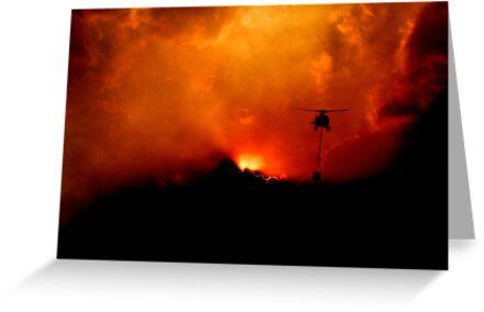 Bushfire Sun by Mark Moskvitch