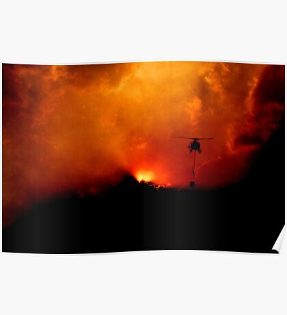 Bushfire Sun Poster