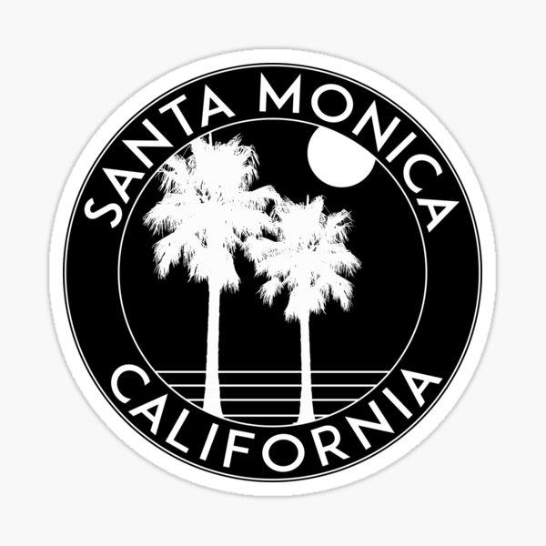 SURFING SANTA MONICA CALIFORNIA SURF BEACH VACATION PALM TREE  Sticker