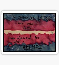 Transgender Flag - Miles Mckenna quote Sticker