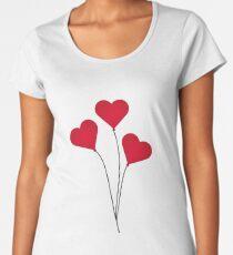The Heart Balloons Women's Premium T-Shirt