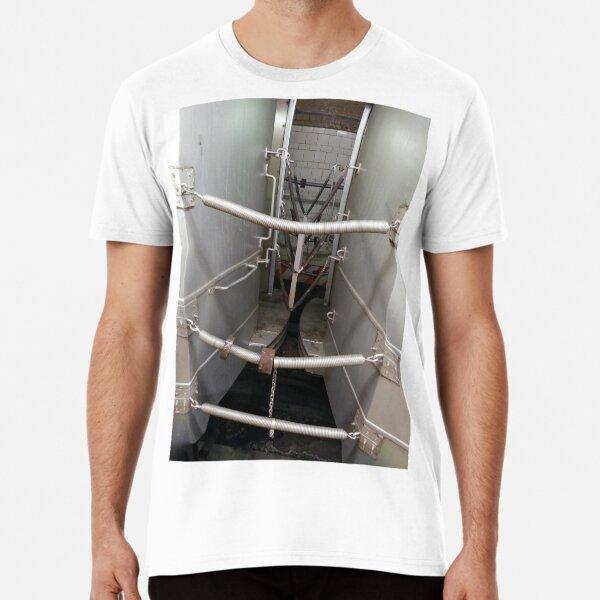 Street, City, Buildings, Photo, Day, Trees, New York, Manhattan, Brooklyn Premium T-Shirt