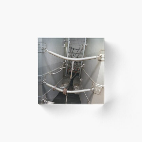 Street, City, Buildings, Photo, Day, Trees, New York, Manhattan, Brooklyn Acrylic Block