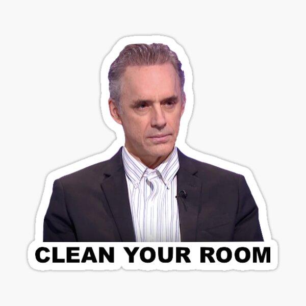 "Jordan Peterson ""Clean Your Room"" Sticker"